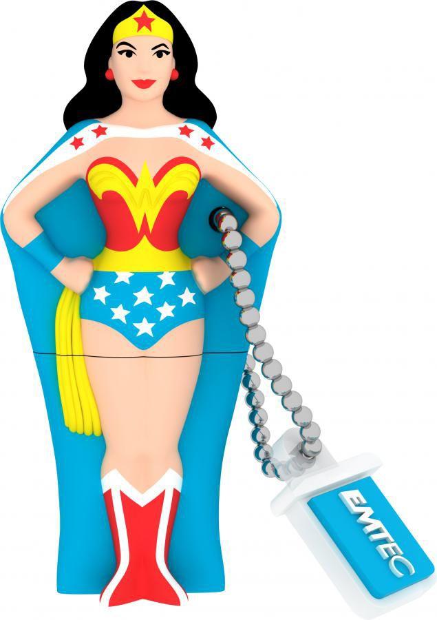 Флешка USB EMTEC Wonderwoman 8Гб, USB2.0, синий и рисунок [ecmmd8gsh101]