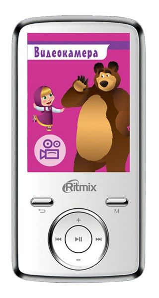 MP3 плеер RITMIX RF-7650M flash 4Гб белый [15115200]