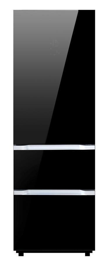 Холодильник SHIVAKI SHRF-450MDG-B,  трехкамерный,  черный