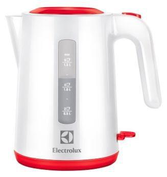 Чайник электрический ELECTROLUX EEWA3230, 2200Вт, белый и красный