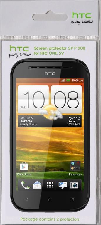 Защитная пленка HTC SP P900  для HTC One SV,  прозрачная, 2 шт