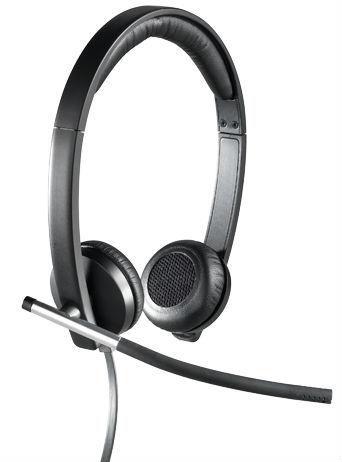Наушники с микрофоном LOGITECH H650E,  981-000519,  накладные, черный