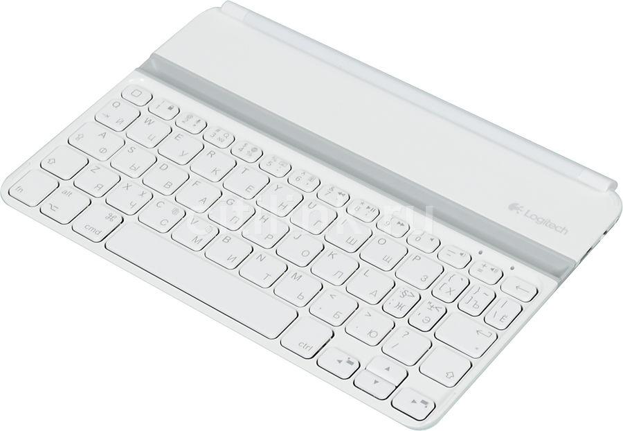 Клавиатура LOGITECH Ultrathin Mini, iPad mini белый [920-005122]