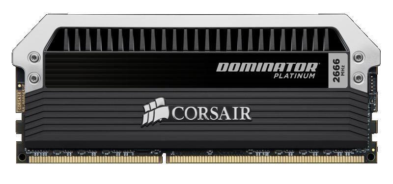 Модуль памяти CORSAIR DOMINATOR PLATINUM CMD16GX3M4A2666C10 DDR3 -  4x 4Гб 2666, DIMM,  Ret