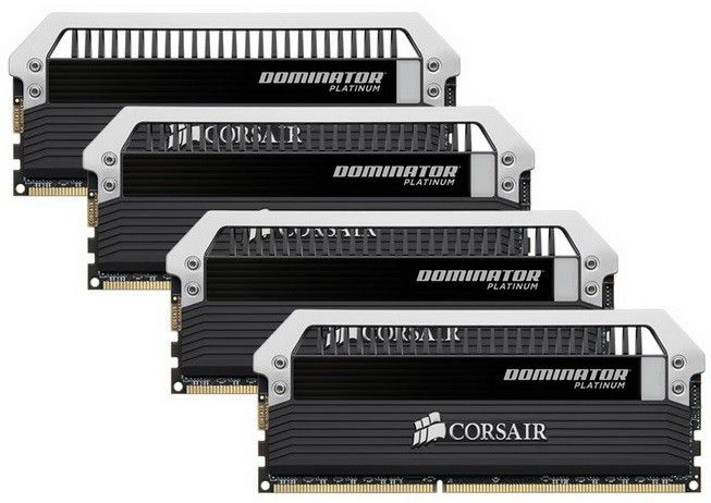Модуль памяти CORSAIR DOMINATOR PLATINUM CMD32GX3M4A1600C9 DDR3 -  4x 8Гб 1600, DIMM,  Ret