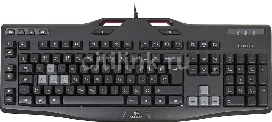 Клавиатура LOGITECH G105,  USB, черный [920-005056]