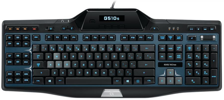 Клавиатура LOGITECH G510S,  USB, черный + синий [920-004975]