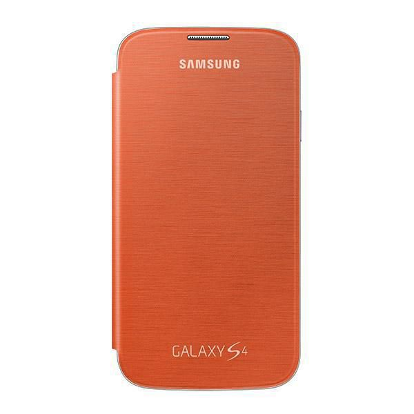 Чехол (флип-кейс) SAMSUNG EF-FI950BOE, для Samsung Galaxy S4, оранжевый [ef-fi950boegru]