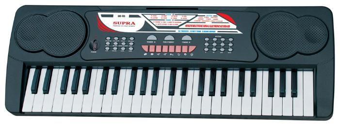 Синтезатор SUPRA SKB-495, 49, невзвешенная, полноразмерные, 2, черный