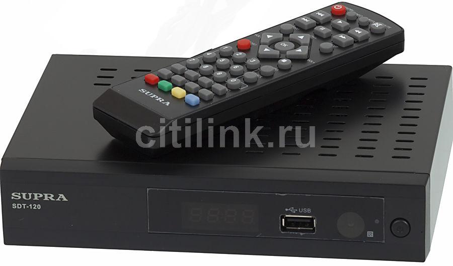 Ресивер DVB-T2 SUPRA SDT-120,  черный
