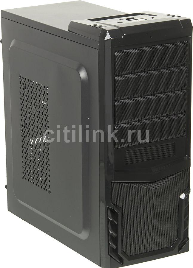 Корпус ATX FORMULA FA-002B, Midi-Tower, 500Вт,  черный