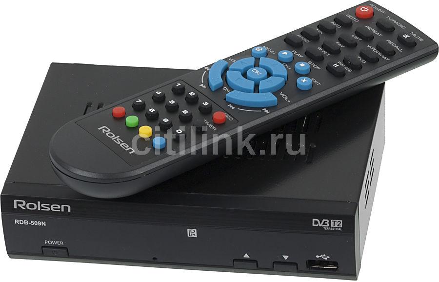Ресивер DVB-T2 ROLSEN RDB-509N,  черный [1-rldb-rdb-509n]