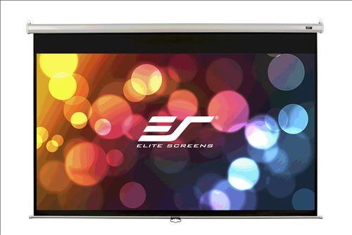 Экран ELITE SCREENS Manual M100UWH,  221х124.5 см, 16:9,  настенно-потолочный черный