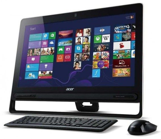 Моноблок ACER Aspire Z3-605t, Intel Core i3 3227U, 4Гб, 1000Гб, Intel HD Graphics 4000, DVD-RW, Windows 8, черный [dq.spber.001]