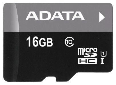 Карта памяти microSDHC UHS-I A-DATA 16 ГБ, Class 10, AUSDH16GUICL10-R,  1 шт.