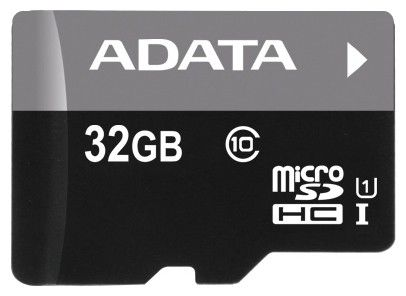Карта памяти microSDHC A-DATA 32 ГБ, Class 10, AUSDH32GUICL10-R,  1 шт.
