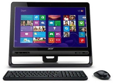 Моноблок ACER Aspire Z3-605t, Intel Core i5 3337U, 4Гб, 1000Гб, AMD Radeon HD 8760M - 1024 Мб, DVD-RW, Windows 8, черный [dq.sqqer.003]