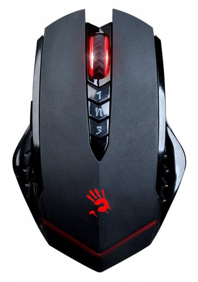 Мышь A4 Bloody R8-1/R80, игровая, оптическая, беспроводная, USB, черный