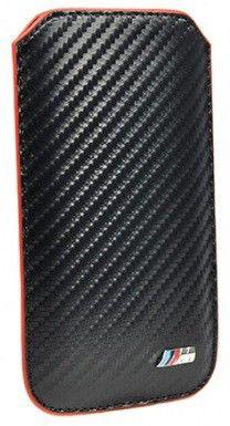 Чехол (футляр)  BMW M-Collection sleeve carbon effect, для Apple iPhone 5/5s, черный [bmpop5mc]