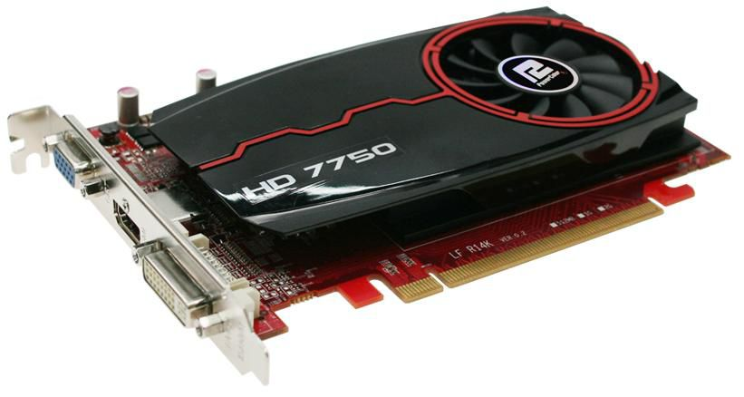 Видеокарта POWERCOLOR Radeon HD 7750,  AX7750 2GBK3-H,  2Гб, DDR3, oem