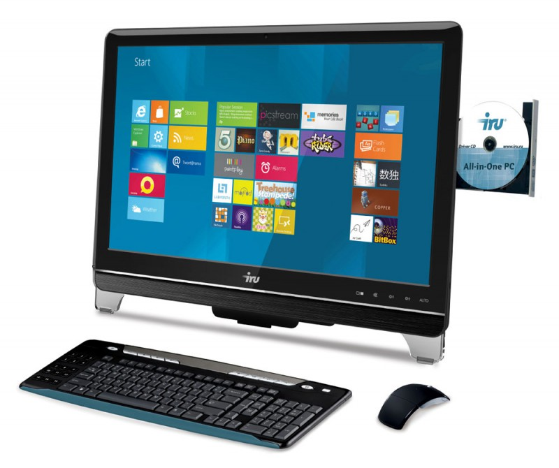 Моноблок IRU 504, Intel Pentium G2020, 6Гб, 1000Гб, Intel GeForce GT630M - 1024 Мб, DVD-RW, Free DOS, черный