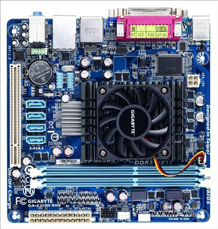 Материнская плата GIGABYTE GA-E350N WIN8 mini-ITX, Ret