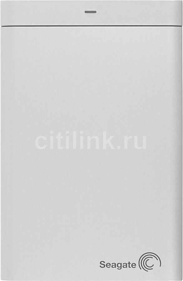 Внешний жесткий диск SEAGATE Backup Plus STBU1000201, 1Тб, серебристый