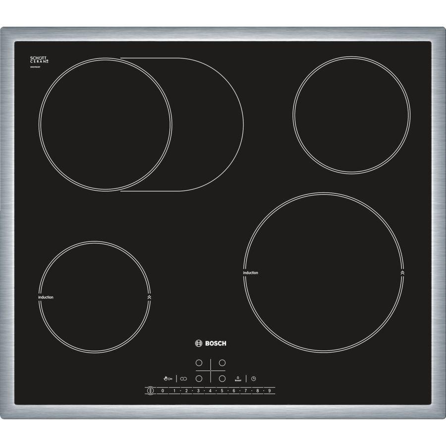 Варочная поверхность BOSCH PIC645F17E,  индукционная,  независимая,  черный