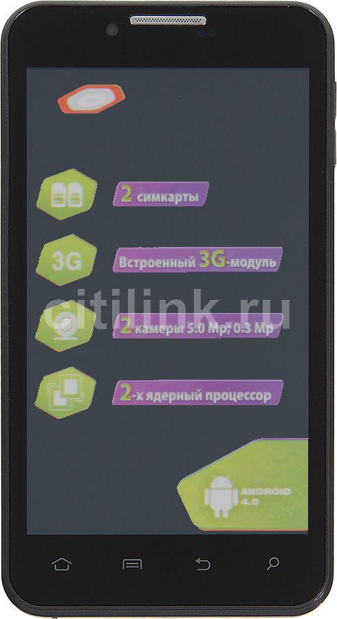 Смартфон IRU Q501,  черный