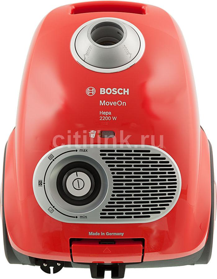 Пылесос BOSCH BGL35MOV15, 2200Вт, красный