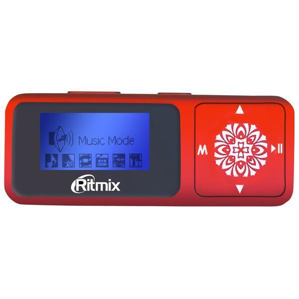 MP3 плеер RITMIX RF-3350 flash 4Гб красный [15114363]
