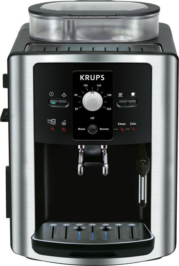 Кофемашина Krups EA8010PE черный/серебристый 1450Вт (отремонтированный)