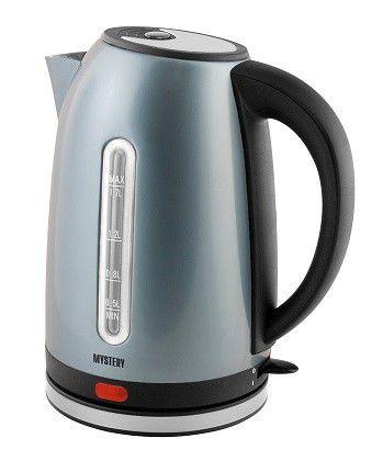 Чайник электрический MYSTERY MEK-1630, 2000Вт, серебристый