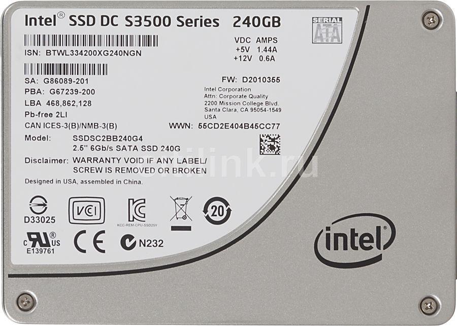 Накопитель SSD INTEL S3500 SSDSC2BB240G401 240Гб, 2.5