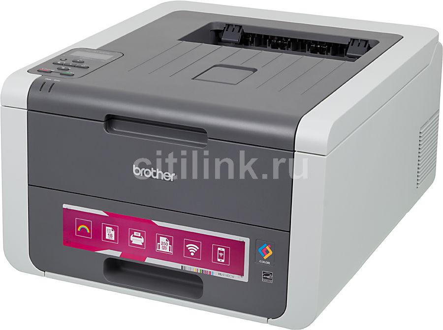 Принтер лазерный BROTHER HL-3140CW светодиодный, цвет:  белый [hl3140cwr1]