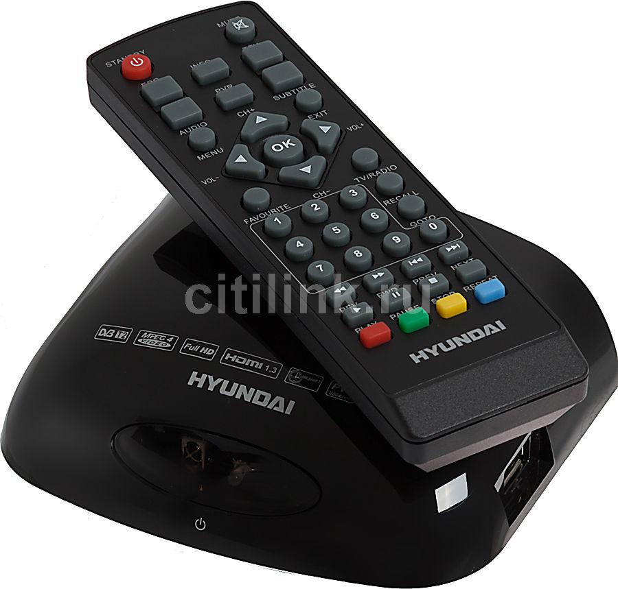 Ресивер DVB-T2 HYUNDAI H-DVB02T2,  черный