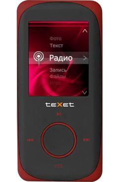 MP3 плеер TEXET Т-189 flash 4Гб красный