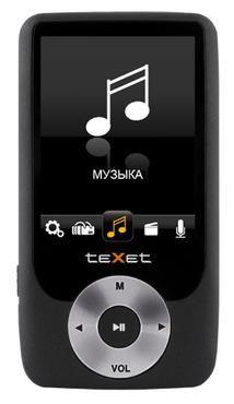 MP3 плеер TEXET Т-795 flash 4Гб черный