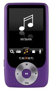 MP3 плеер TEXET Т-795 flash 4Гб фиолетовый