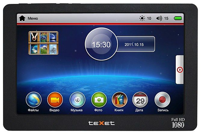 MP3 плеер TEXET Т-930HD flash 8Гб черный