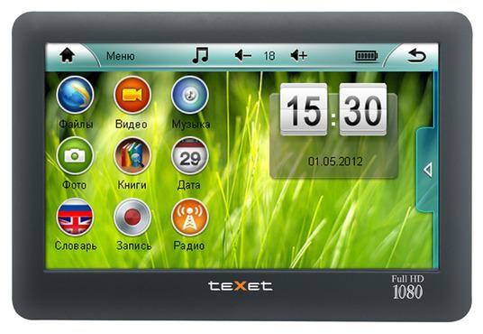 MP3 плеер TEXET Т-970HD flash 8Гб черный
