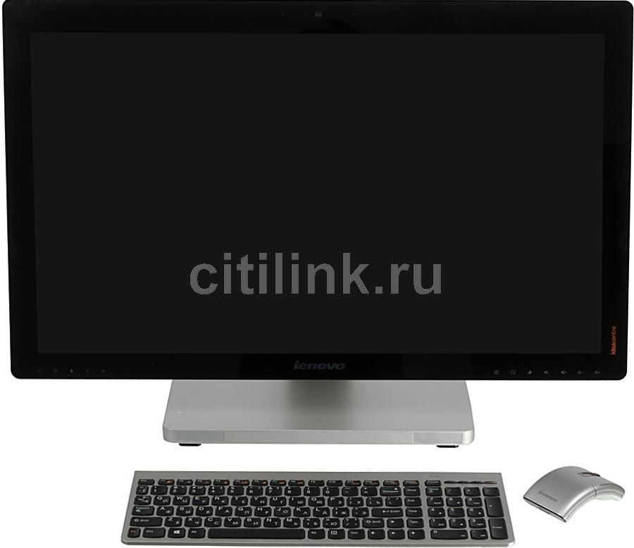Моноблок LENOVO A730, Intel Core i7 4700MQ, 8Гб, 1000Гб, nVIDIA GeForce GT745M - 2048 Мб, DVD-RW, Windows 8, черный и серебристый [57315532]