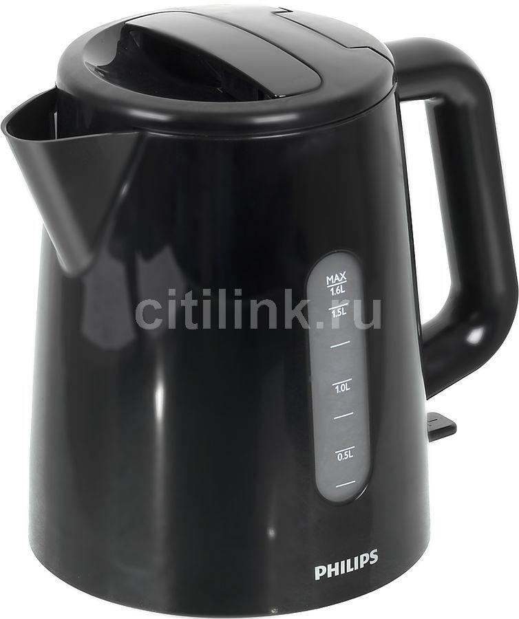 Чайник электрический PHILIPS HD9300/90, 2400Вт, черный