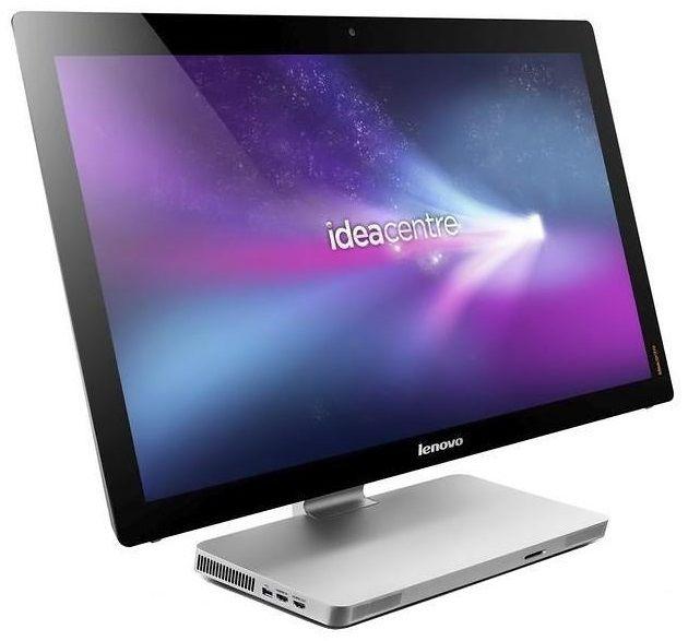 Моноблок LENOVO IdeaCentre A520, Intel Core i7 3630QM, 6Гб, 1000Гб, nVIDIA GeForce 615 - 2048 Мб, Blu-Ray, Windows 8, черный и серебристый [57316760]