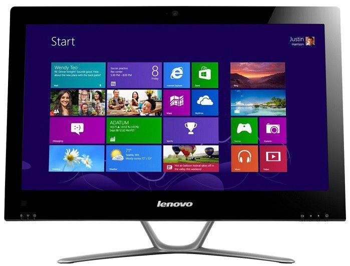 Моноблок LENOVO C540, Intel Core i3 3240, 4Гб, 500Гб, Intel HD Graphics 2500, DVD-RW, Windows 8, черный [57316042]
