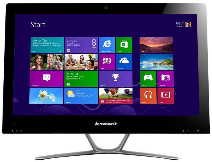 Моноблок LENOVO C540, Intel Core i3 3240, 4Гб, 500Гб, Intel HD Graphics 2500, DVD-RW, Windows 8, белый [57316029]