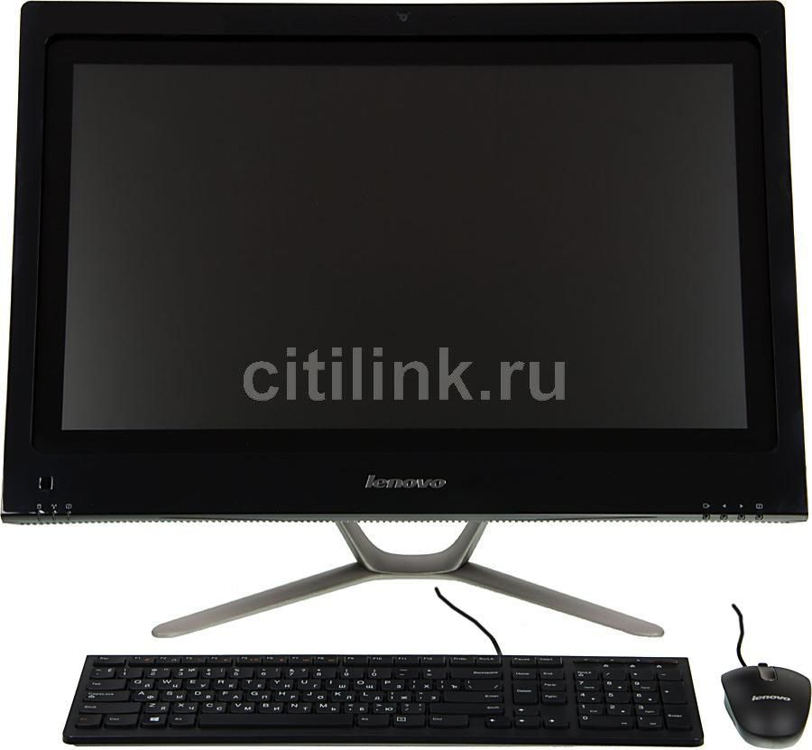Моноблок LENOVO C440, Intel Core i3 3240, 4Гб, 1000Гб, nVIDIA GeForce 615 - 2048 Мб, DVD-RW, Windows 8, черный [57316085]