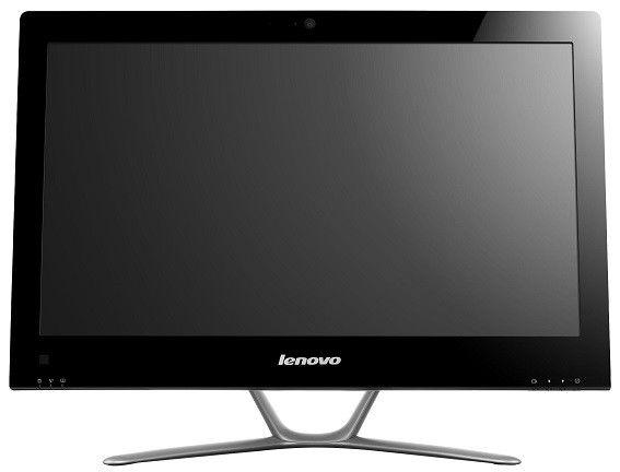 Моноблок LENOVO C440, Intel Pentium G2030, 4Гб, 500Гб, nVIDIA GeForce 615 - 1024 Мб, DVD-RW, Free DOS, черный [57316074]