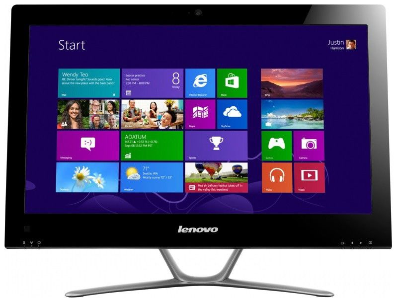 Моноблок LENOVO C445, AMD, 4Гб, 500Гб, AMD, DVD-RW, Windows 8 [57310995]