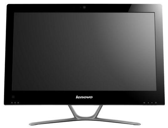Моноблок LENOVO C340, Intel Pentium Dual-Core G2030, 4Гб, 500Гб, Intel HD Graphics, DVD-RW, Windows 8, белый и серебристый [57316105]